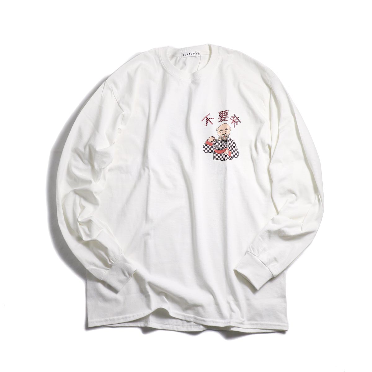 F-LAGSTUF-F × Don't Come / L/S TEE (WHITE)