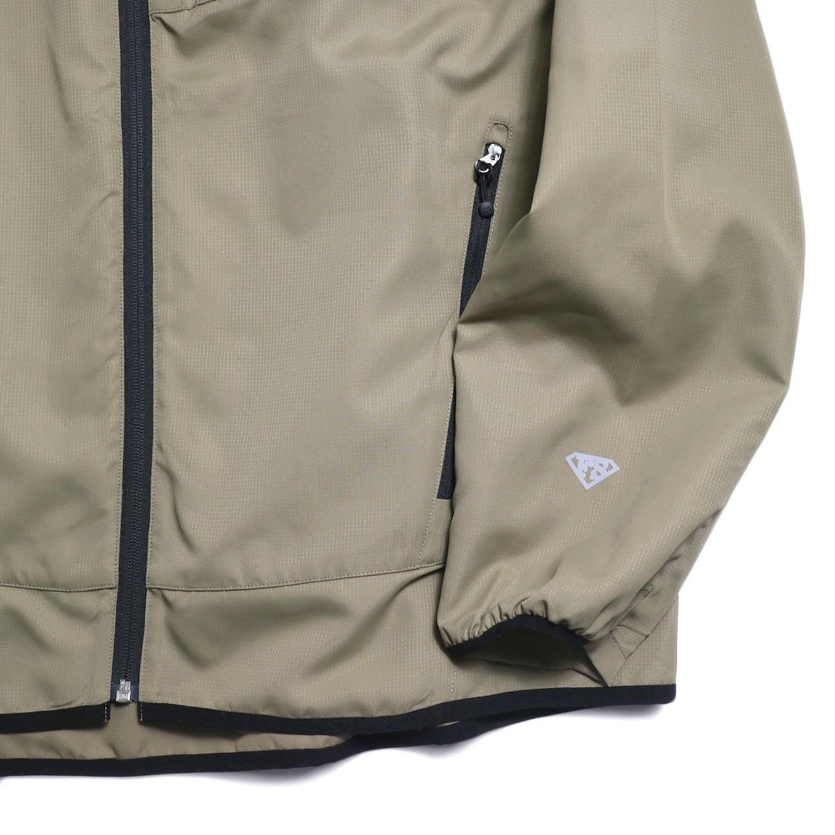 Free Speech / Light Zip Blouson -Beige 袖、裾
