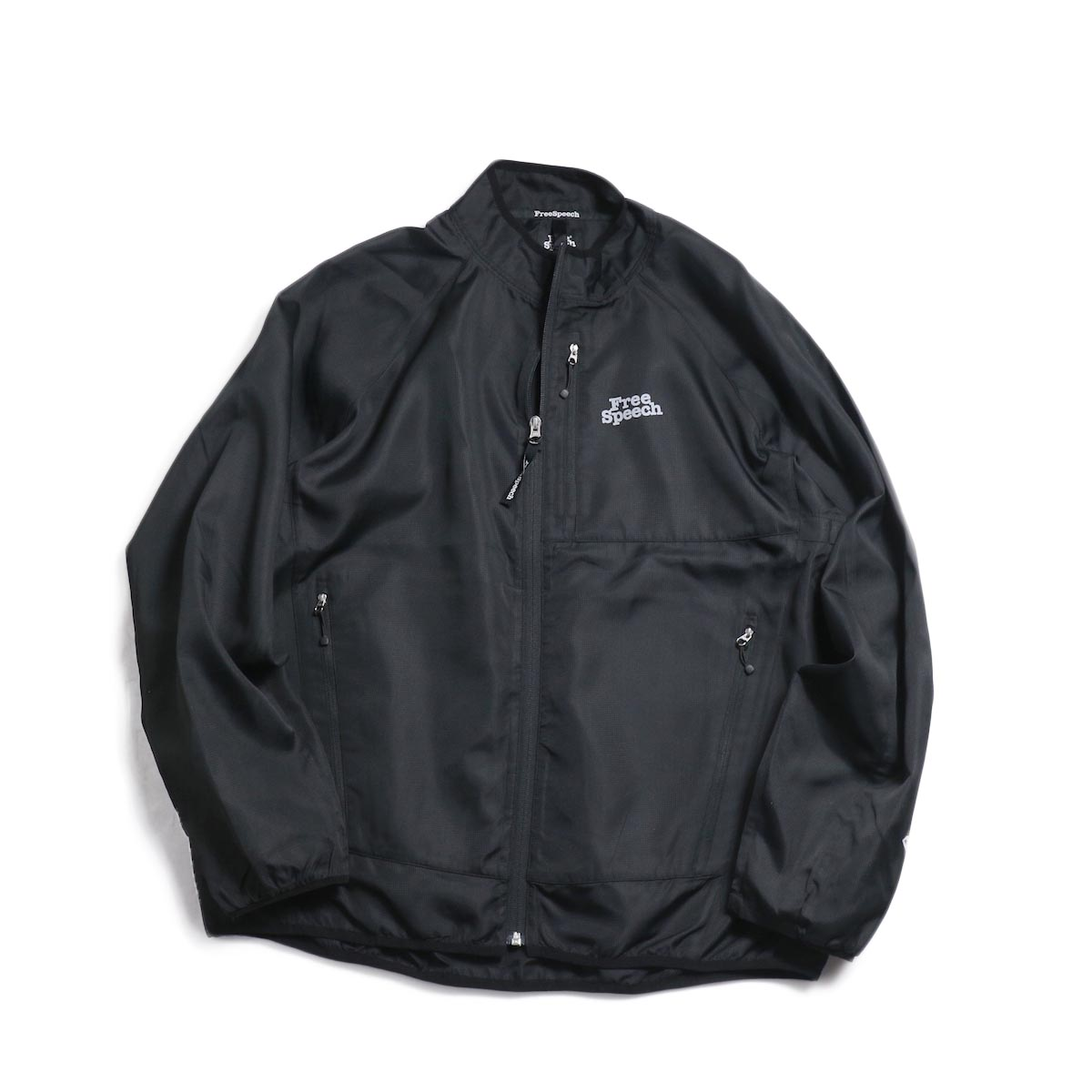 Free Speech / Light Zip Blouson -Black 正面