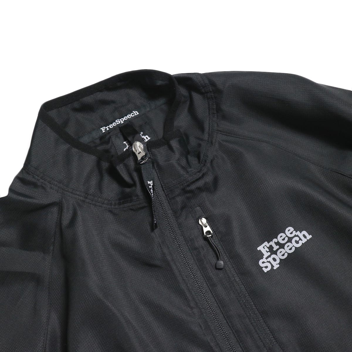 Free Speech / Light Zip Blouson -Black 襟