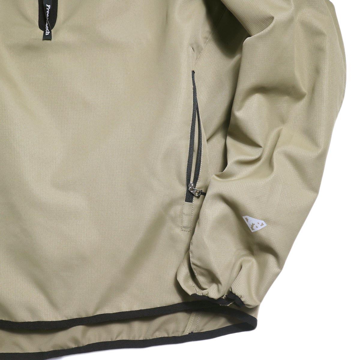 Free Speech / Half Zip Pullover Blouson -Beige 袖、裾