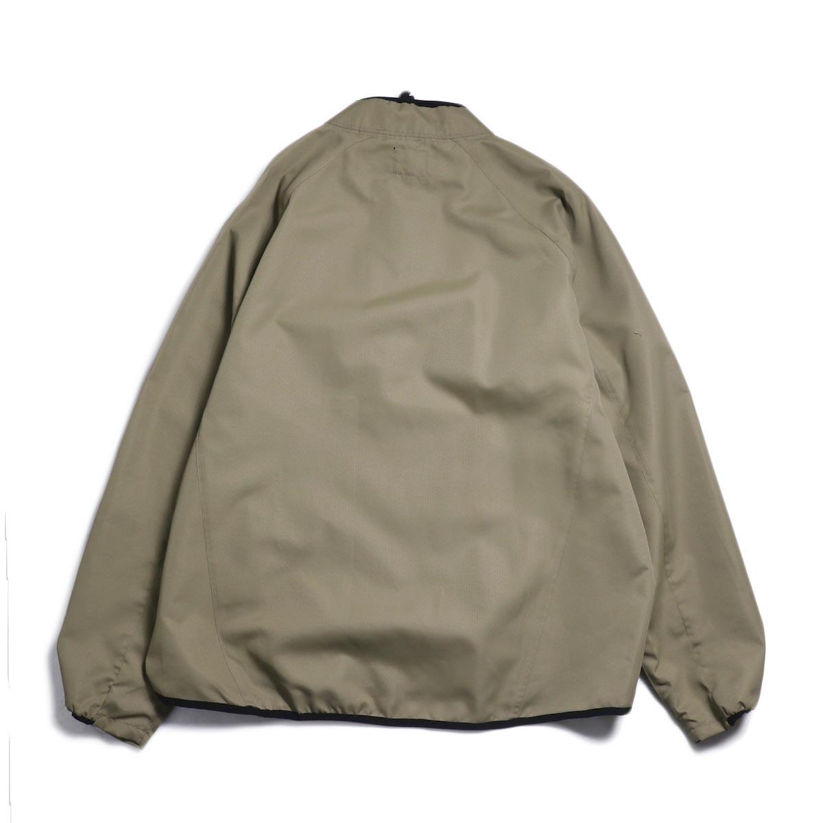 Free Speech / Half Zip Pullover Blouson -Beige 背面