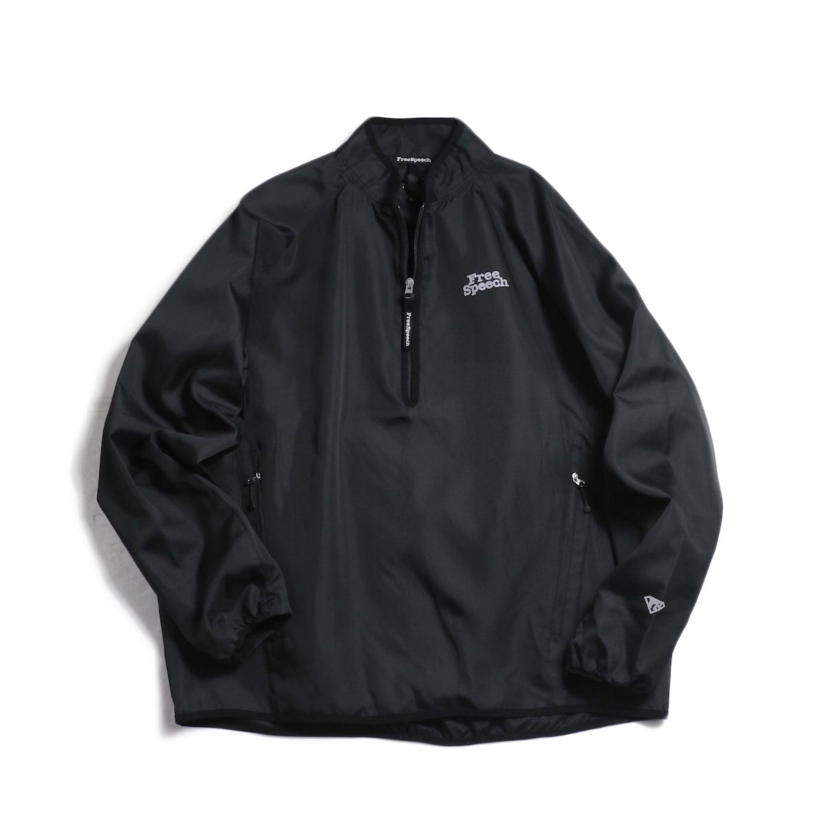 Free Speech / Half Zip Pullover Blouson -Black