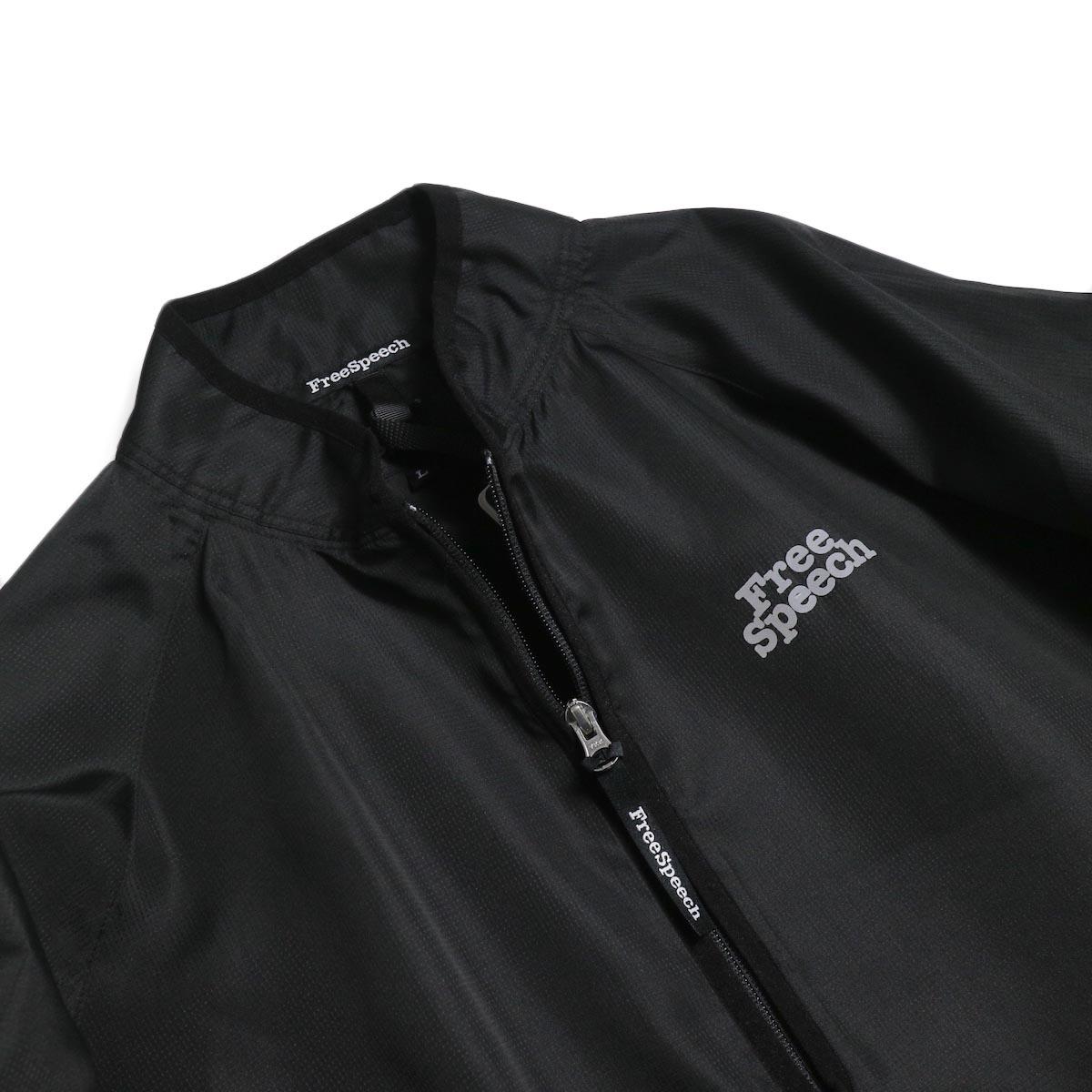 Free Speech / Half Zip Pullover Blouson -Black 襟