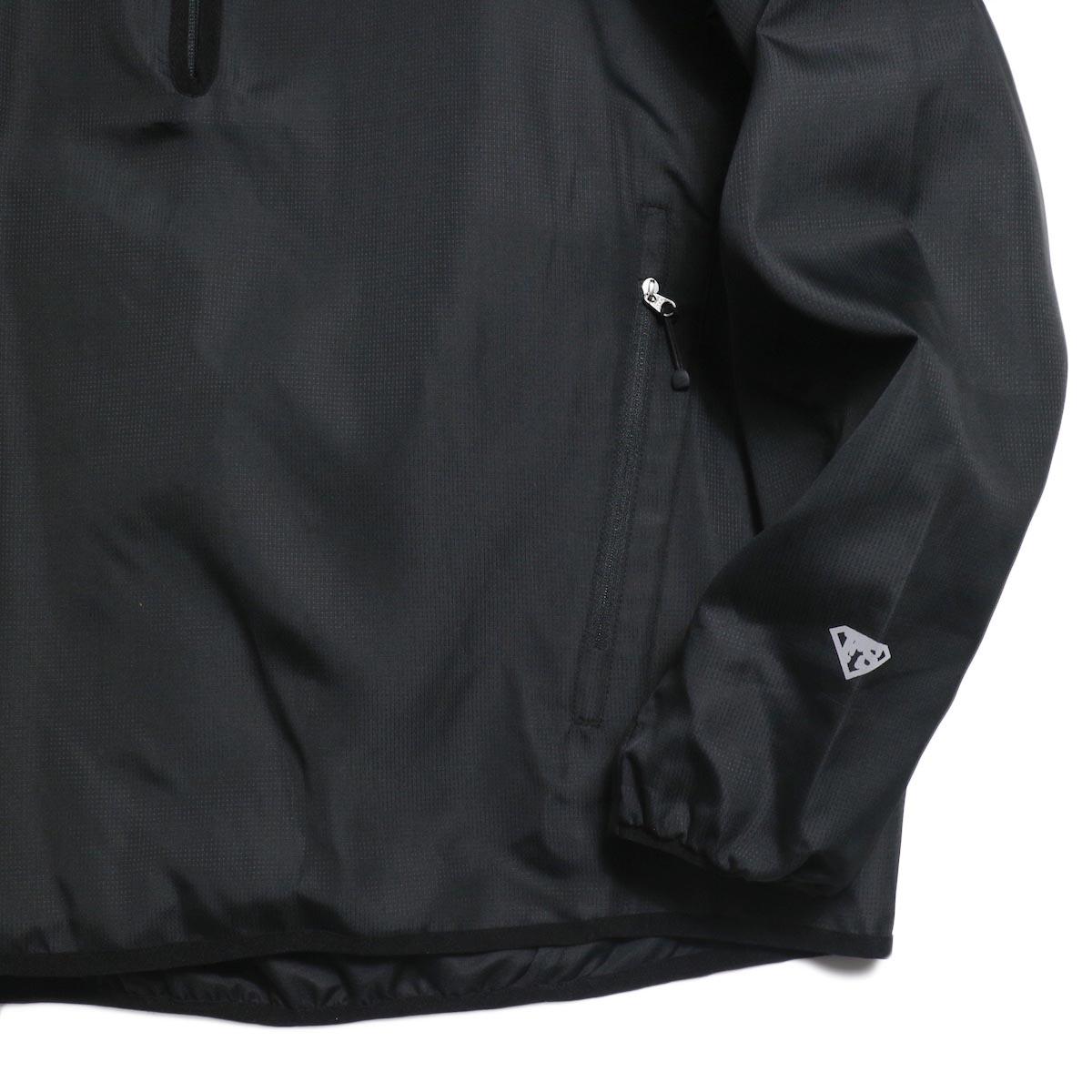 Free Speech / Half Zip Pullover Blouson -Black 袖、裾
