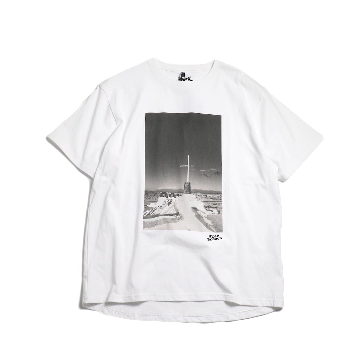 Free Speech / Photo Print S/S Tee -White