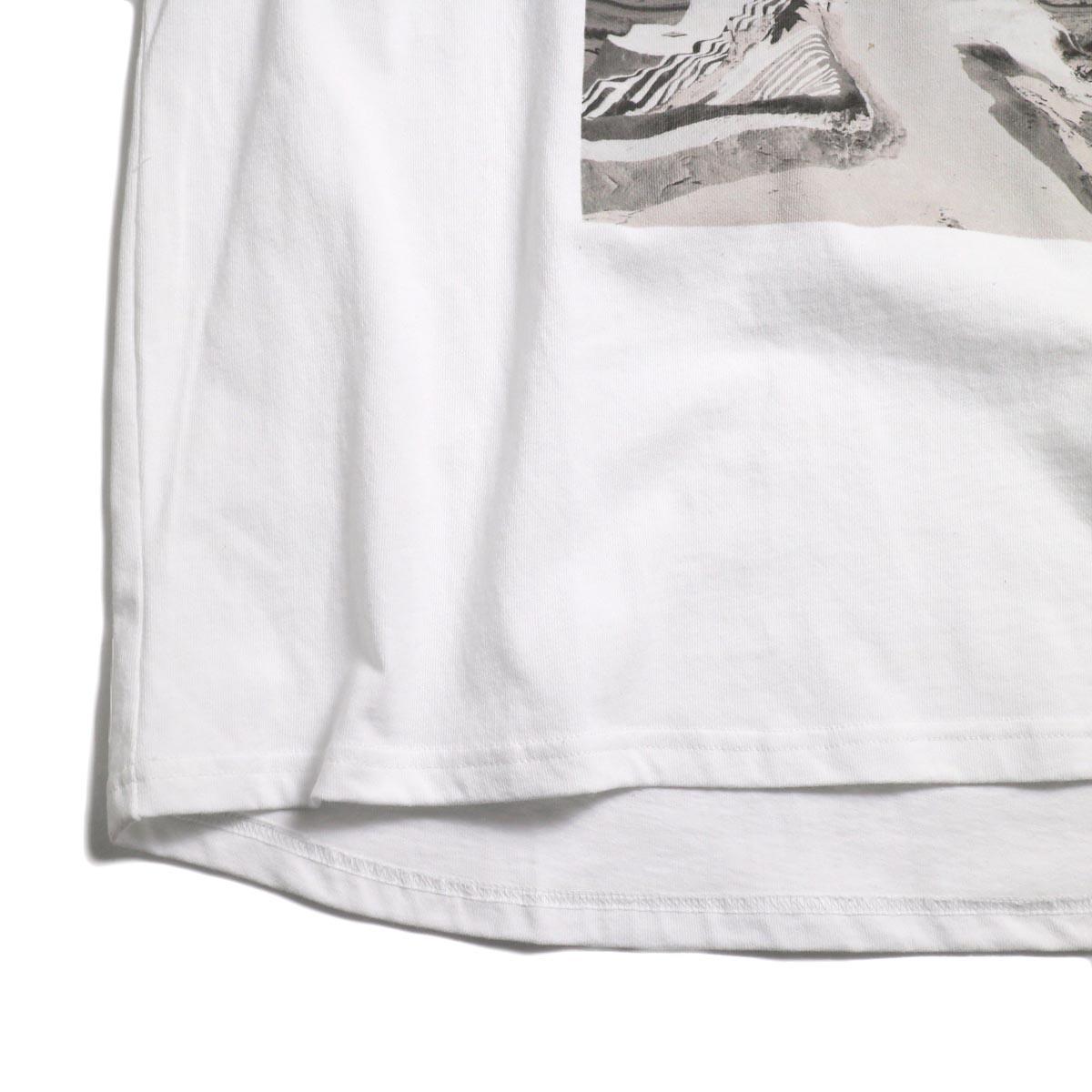 Free Speech / Photo Print S/S Tee -White 裾