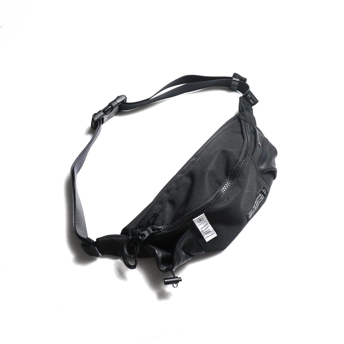 foot the coacher × PORTER / ANARCHO WAIST BAG (Black Ripstop)
