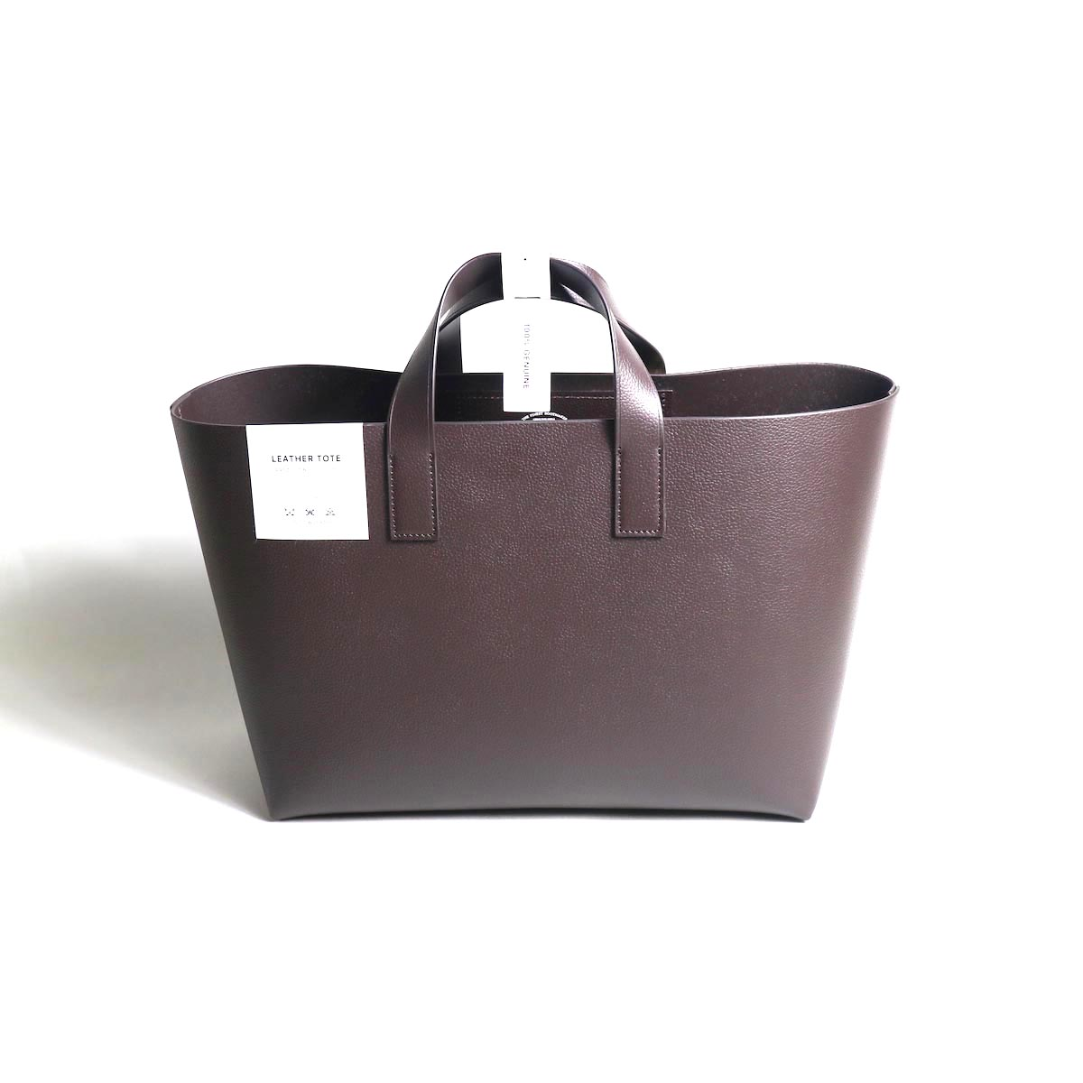 foot the coacher / Leather tote-S (DARK BROWN)正面