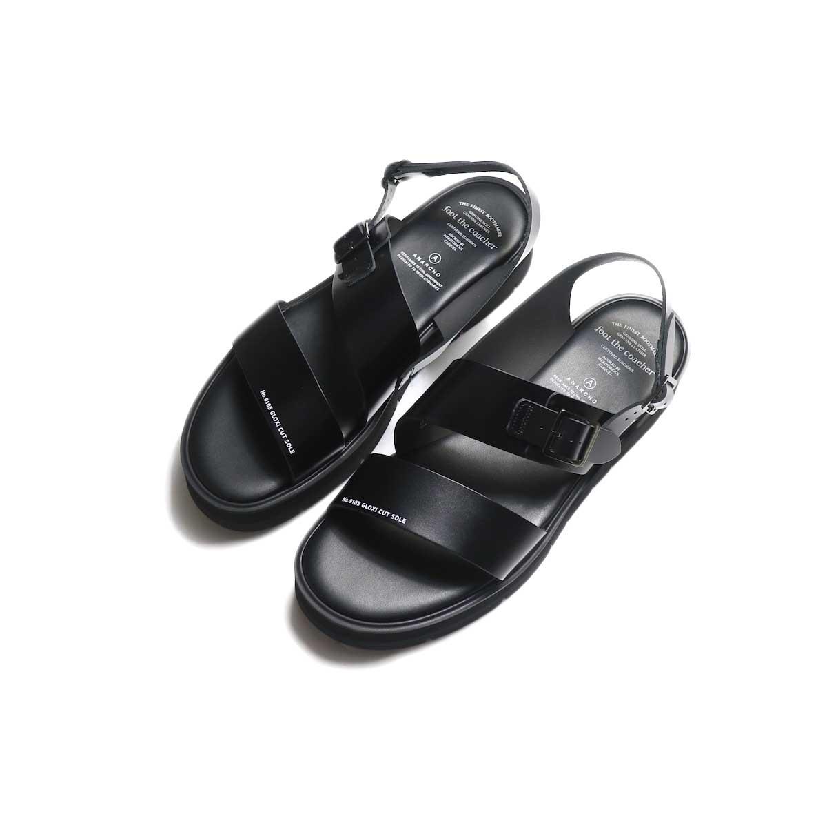 foot the coacher / SS BELT SANDALS (GLOXI CUT SOLE) -Black