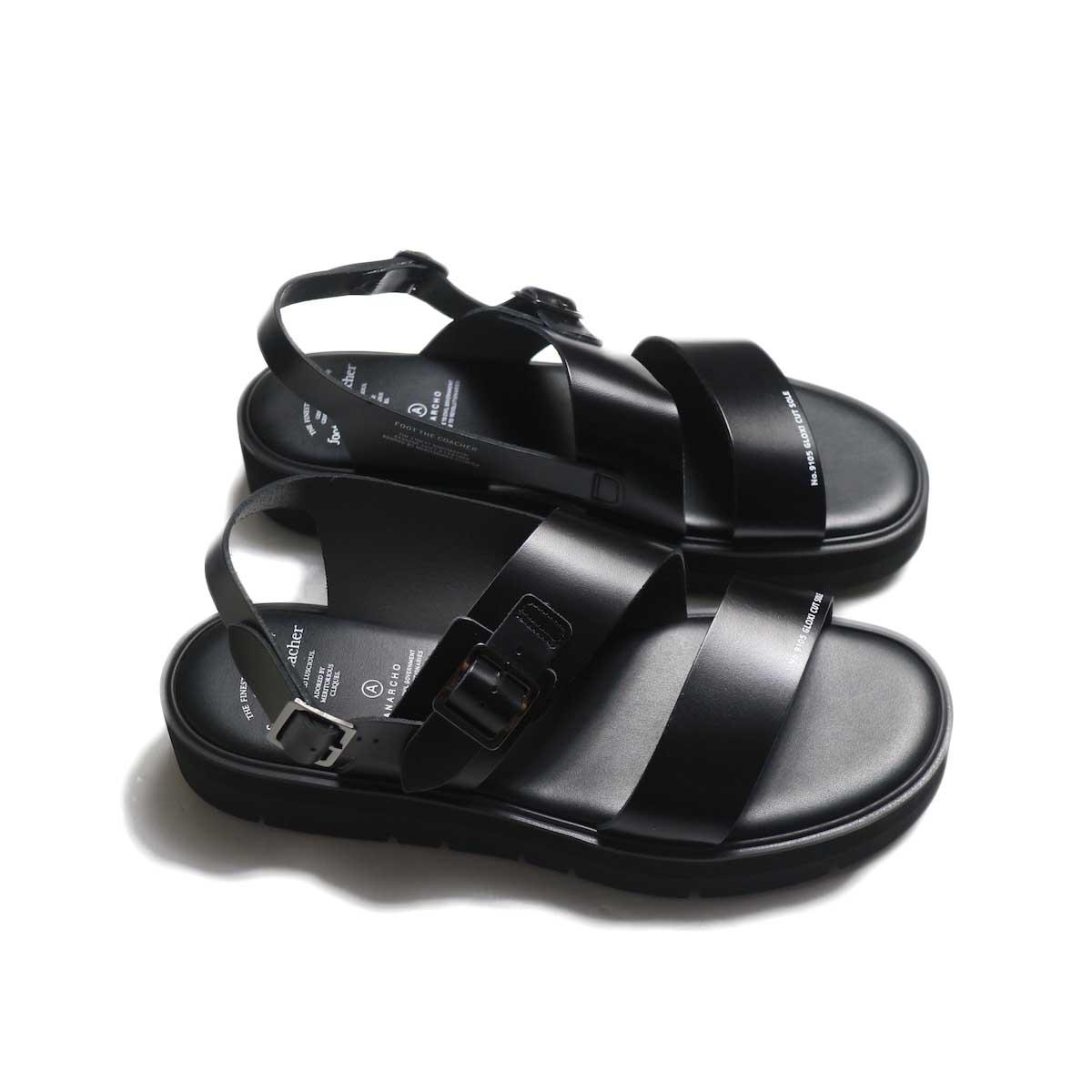foot the coacher / SS BELT SANDALS (GLOXI CUT SOLE) -Black 横