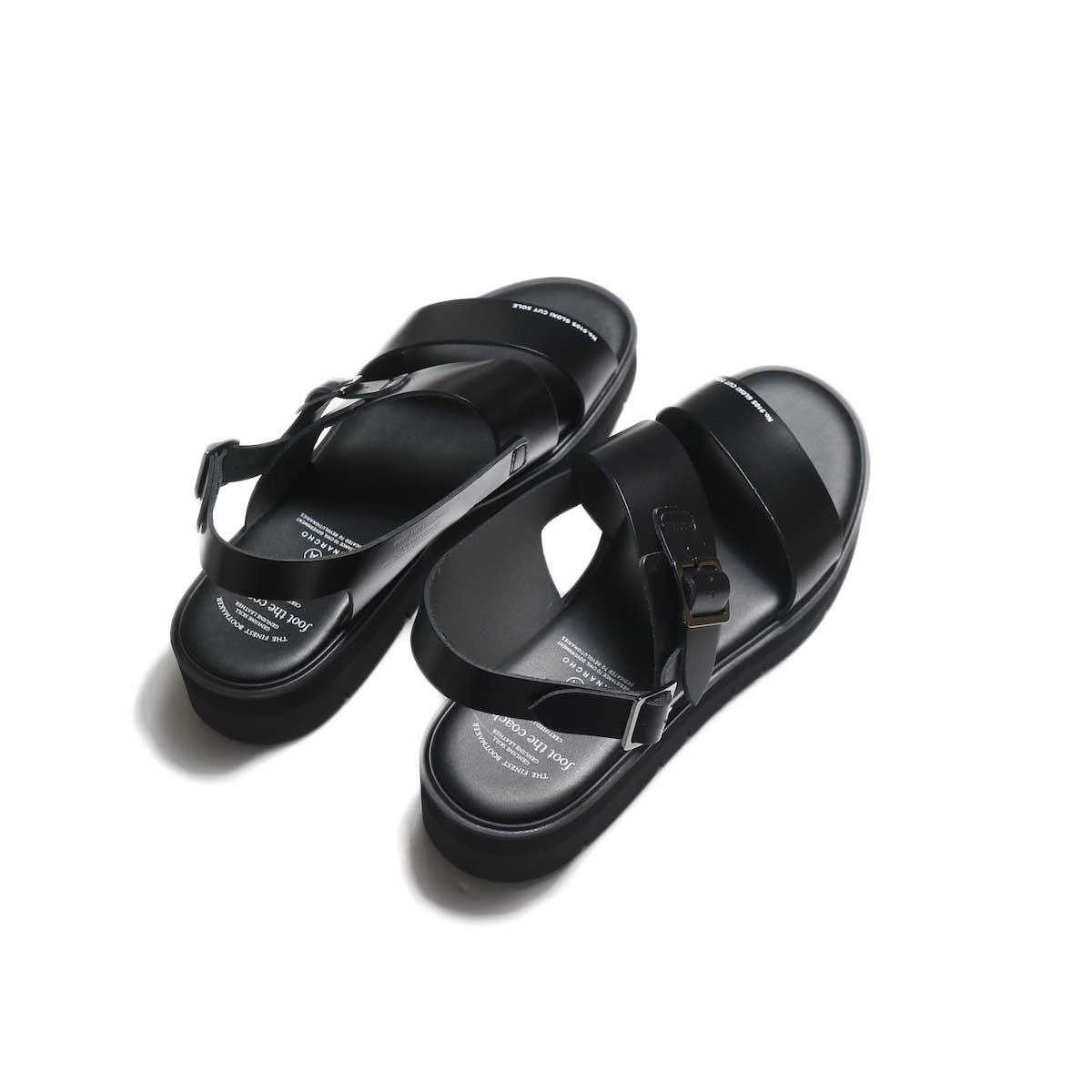 foot the coacher / SS BELT SANDALS (GLOXI CUT SOLE) -Black 背面