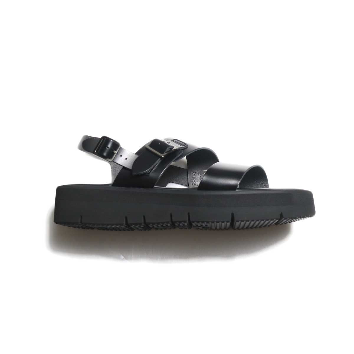 foot the coacher / SS BELT SANDALS (GLOXI CUT SOLE) -Black サイド