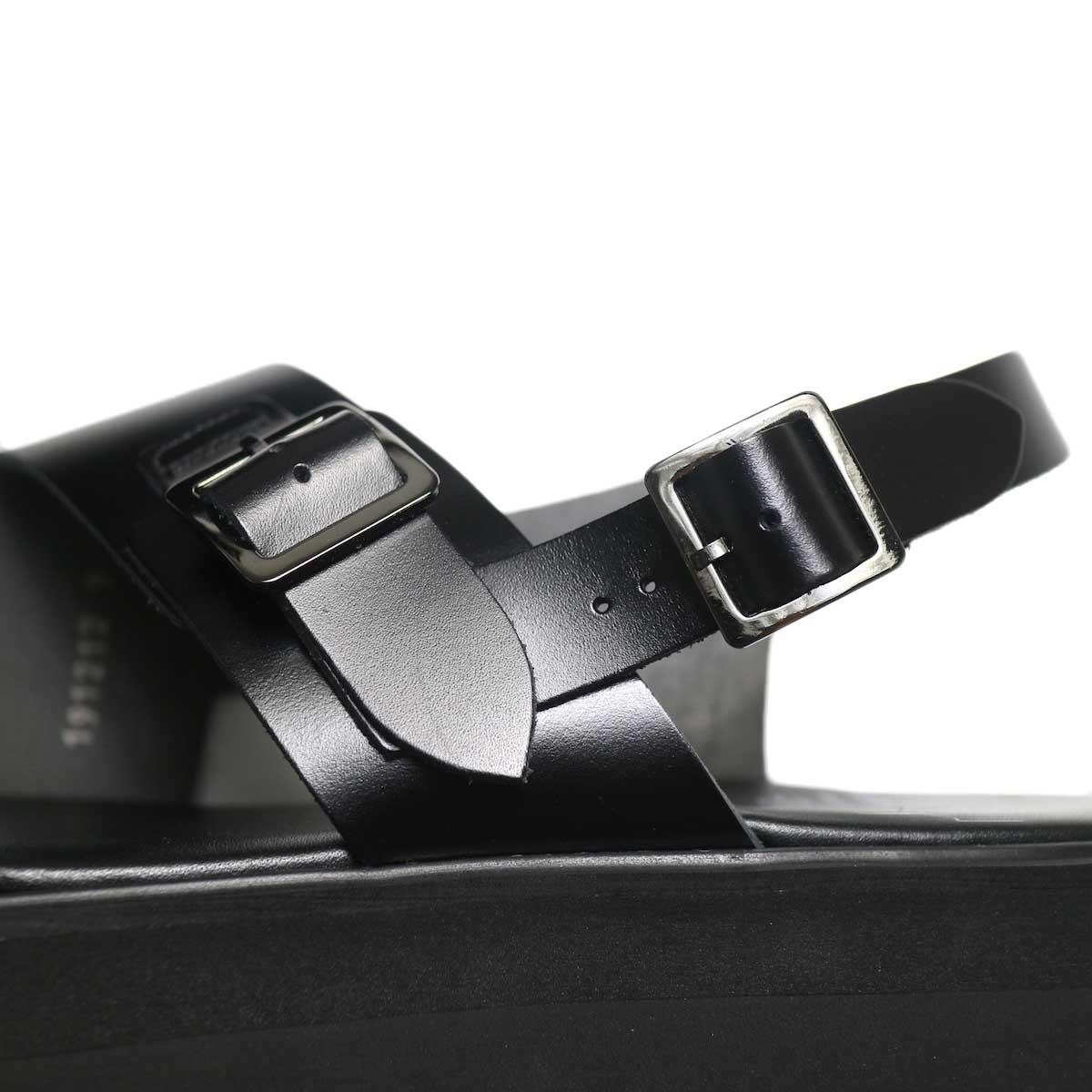foot the coacher / SS BELT SANDALS (GLOXI CUT SOLE) -Black ストラップ