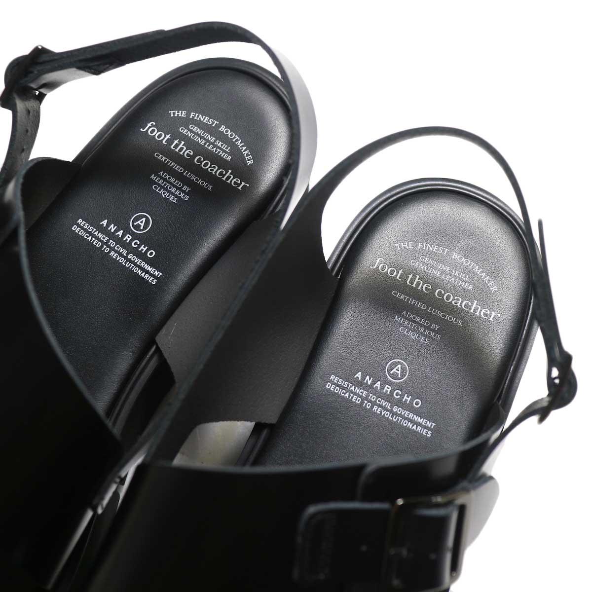 foot the coacher / SS BELT SANDALS (GLOXI CUT SOLE) -Black インソール