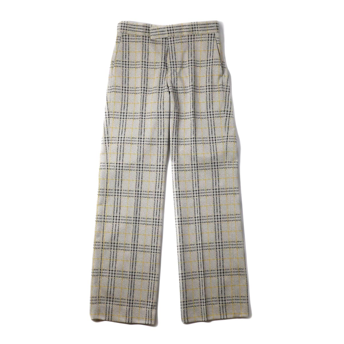 FUMIKA UCHIDA / W JACQUARD STRAIGHT SLACKS (PLAID)