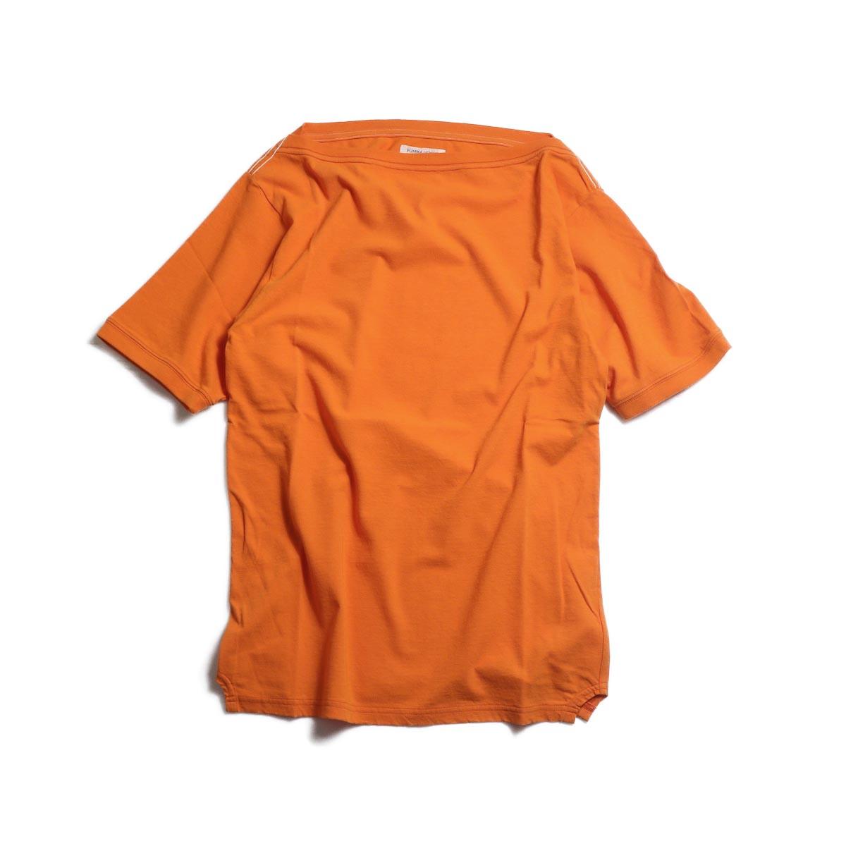 FUMIKA UCHIDA / Cotton Straight Neck Over Shoulder Tee -Orange