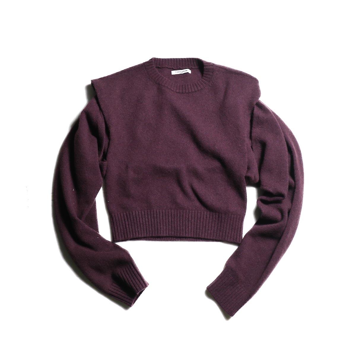 FUMIKA UCHIDA / 7G Yak Separate-Back Sweater (Grape)