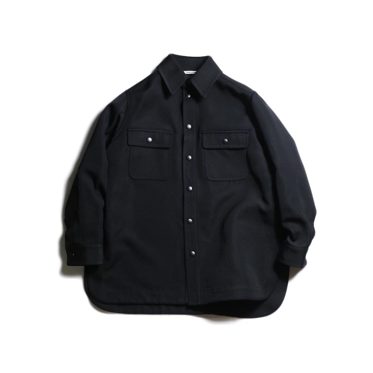 FUMIKA UCHIDA / Wool/Poli Tricotine Shirt Jacket (Black)