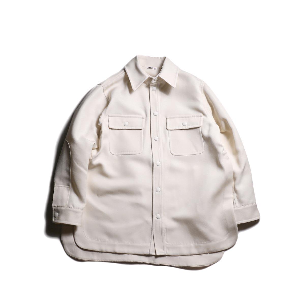 FUMIKA UCHIDA / Wool/Poli Tricotine Shirt Jacket (O.White)
