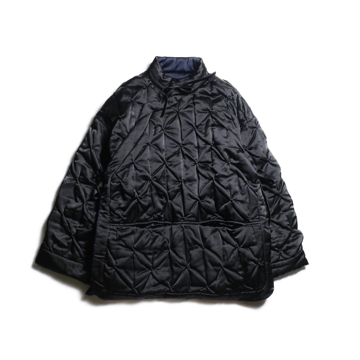 FUMIKA UCHIDA / Silk Cotton Quilt Futon Jacket -Black