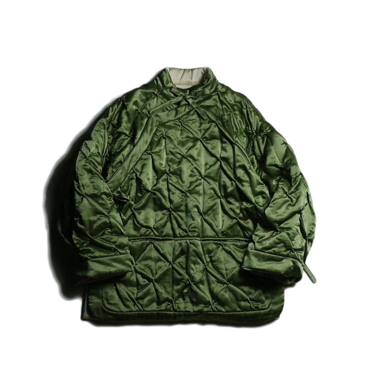 FUMIKA UCHIDA / Silk Cotton Quilt Futon Jacket -Olive