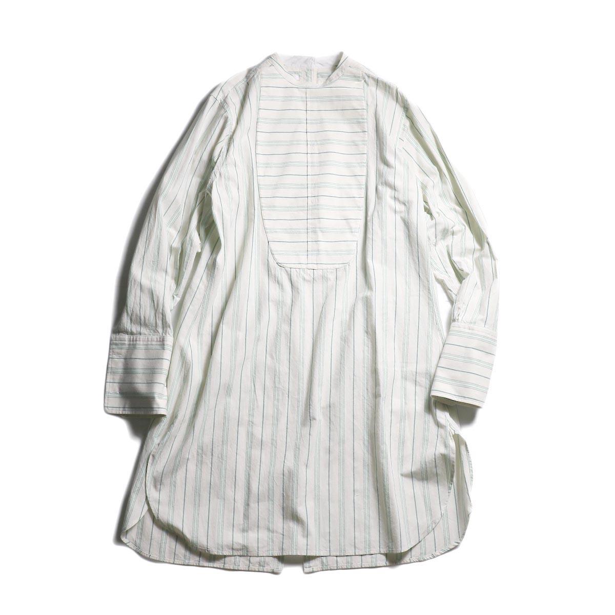 FUMIKA UCHIDA / STRETCH COTTON BACK OPEN LONG SH (Grey × Pepermint)