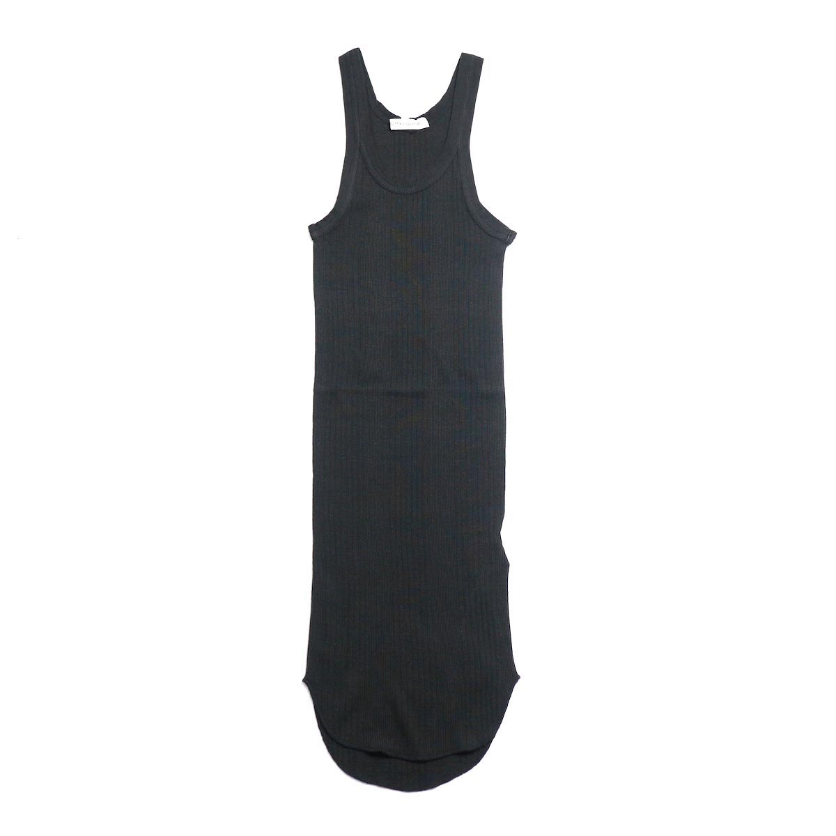 FUMIKA UCHIDA / Cotton Needle Drawing Tank Top -Black