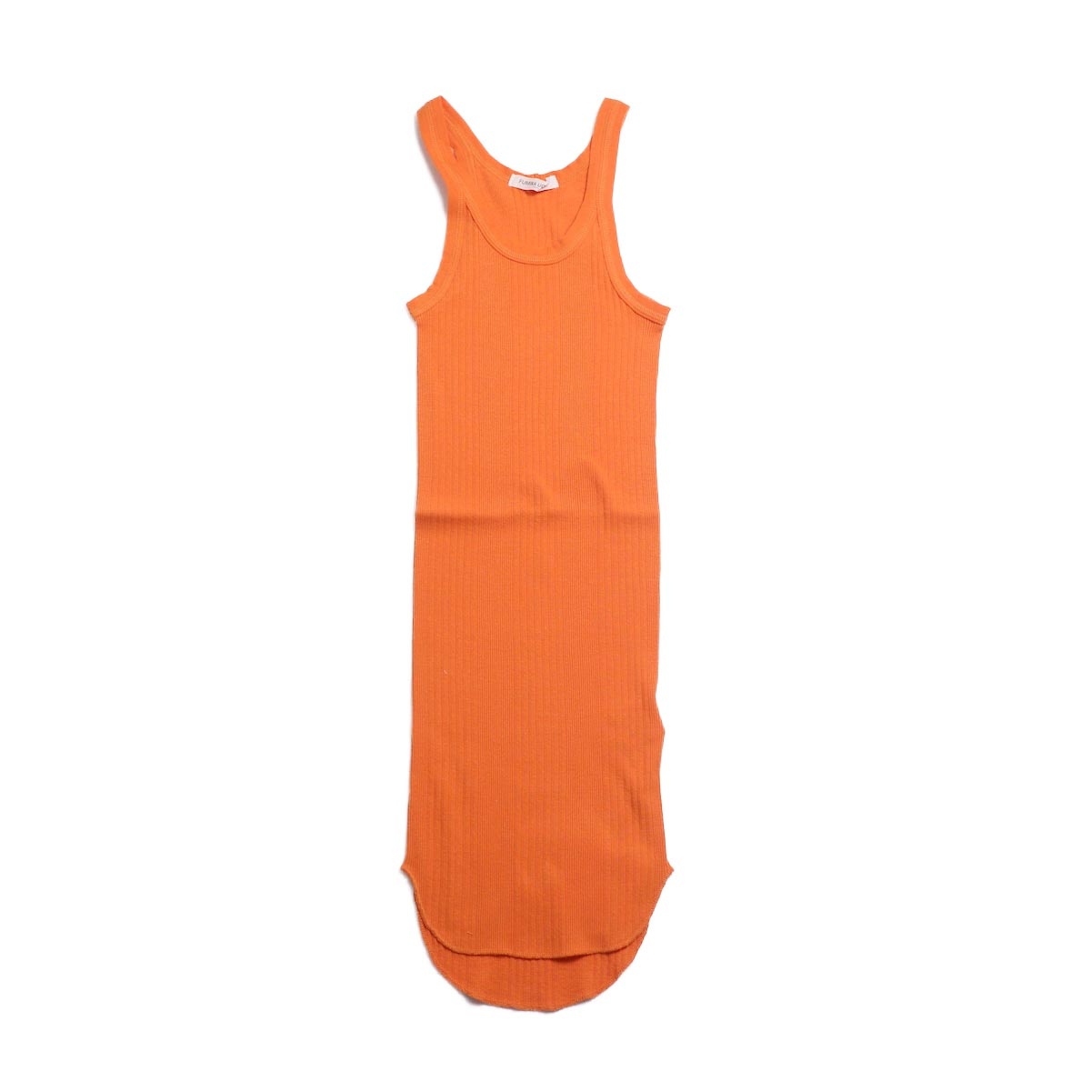 FUMIKA UCHIDA / Cotton Needle Drawing Tank Top -Orange
