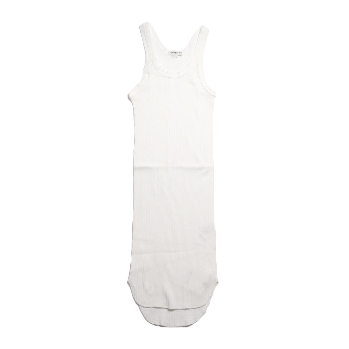 FUMIKA UCHIDA / Cotton Needle Drawing Tank Top -White