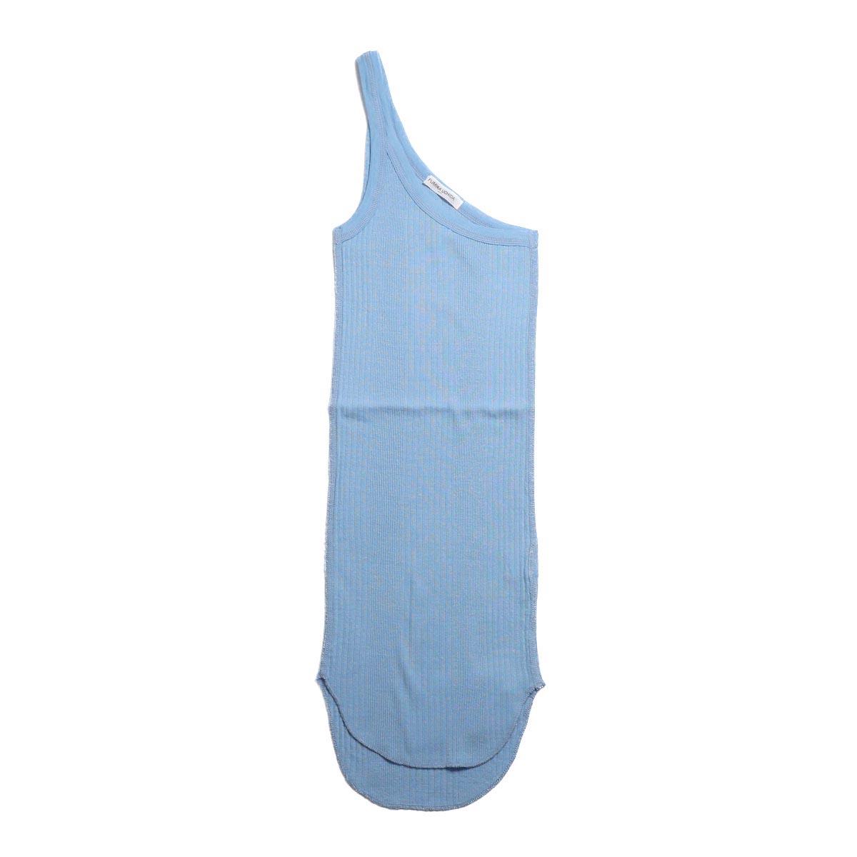 FUMIKA UCHIDA / Cotton Needle Drawing One Shoulder Tank Top -Sax