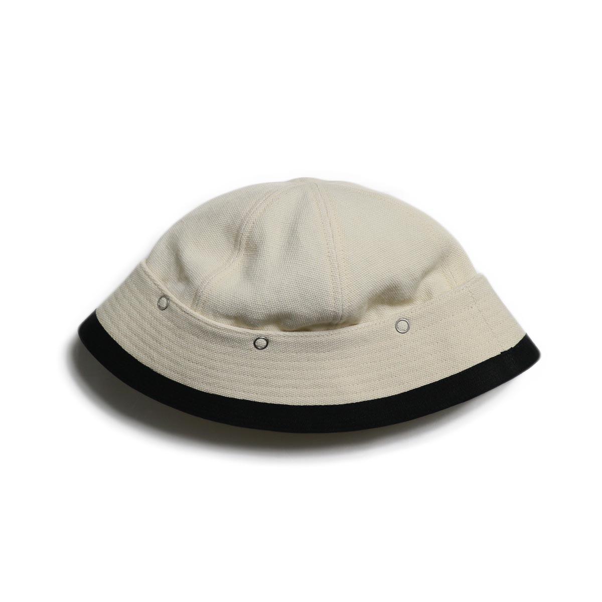 FUMIKA UCHIDA / Cotton Linen Cambus Hat -White