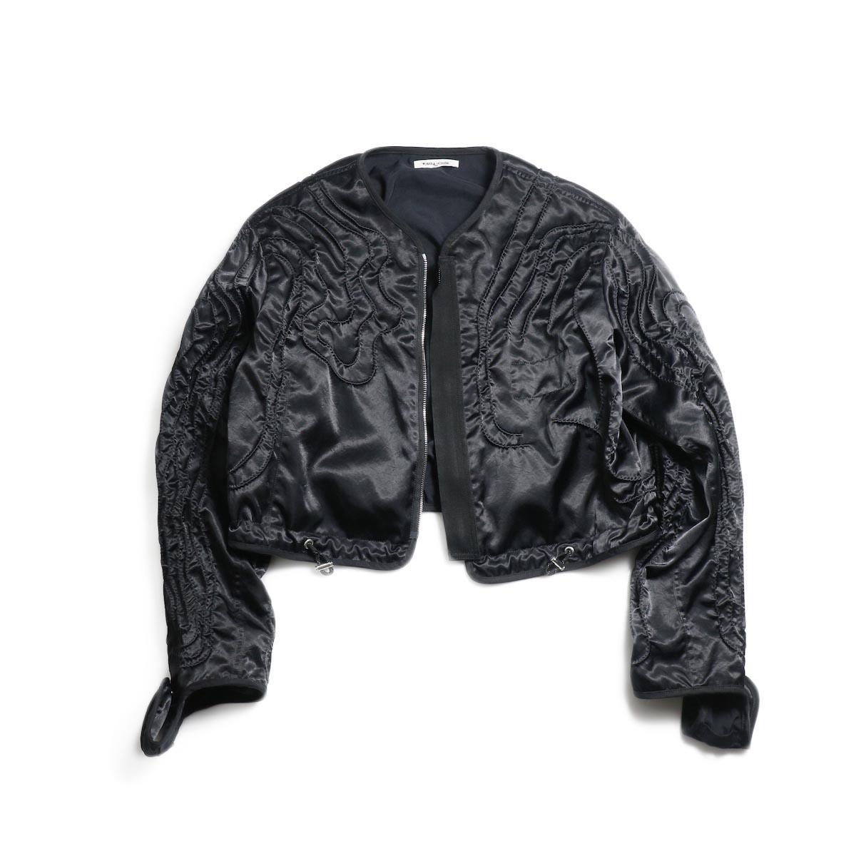 FUMIKA UCHIDA / Poli Cord Parachute Blouson -Black