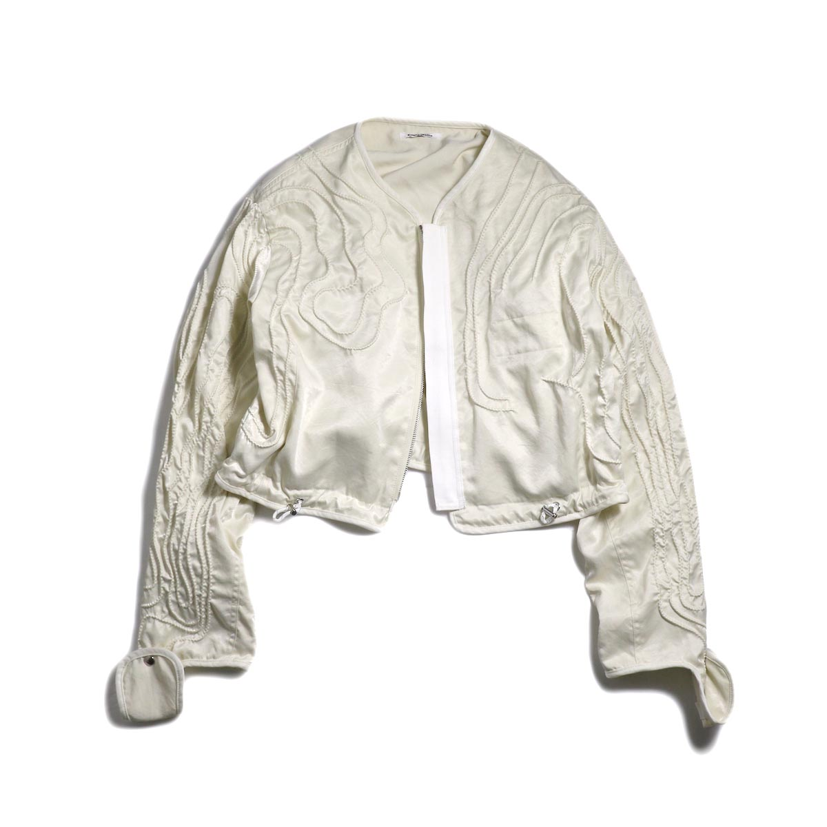 FUMIKA UCHIDA / Poli Cord Parachute Blouson -White