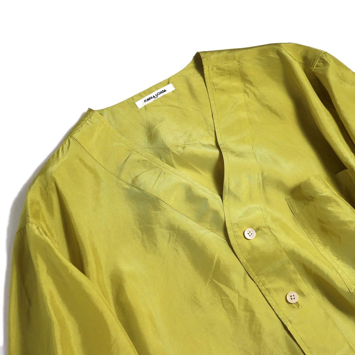 FUMIKA UCHIDA / Silk Sleep Shirt -YELGRN Vネック