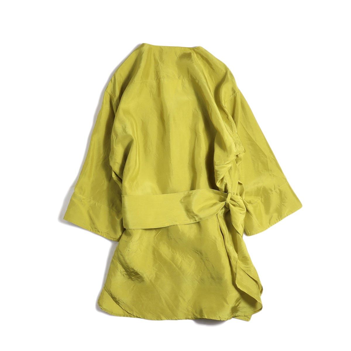 FUMIKA UCHIDA / Silk Sleep Shirt -YELGRN 背面