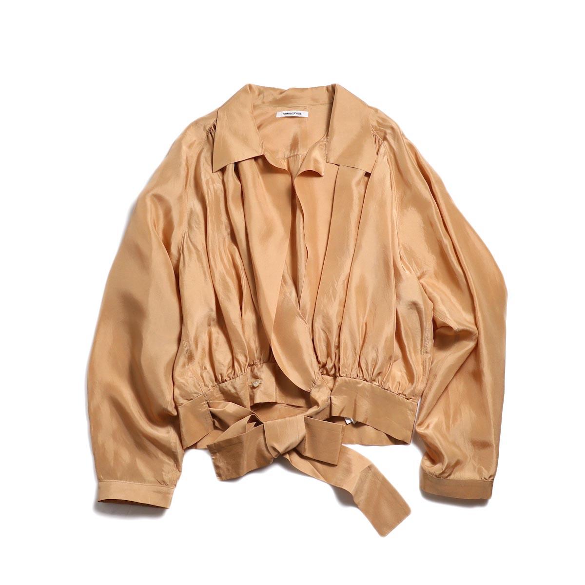 FUMIKA UCHIDA / Silk Cache Coeur Shirt -Nudepink