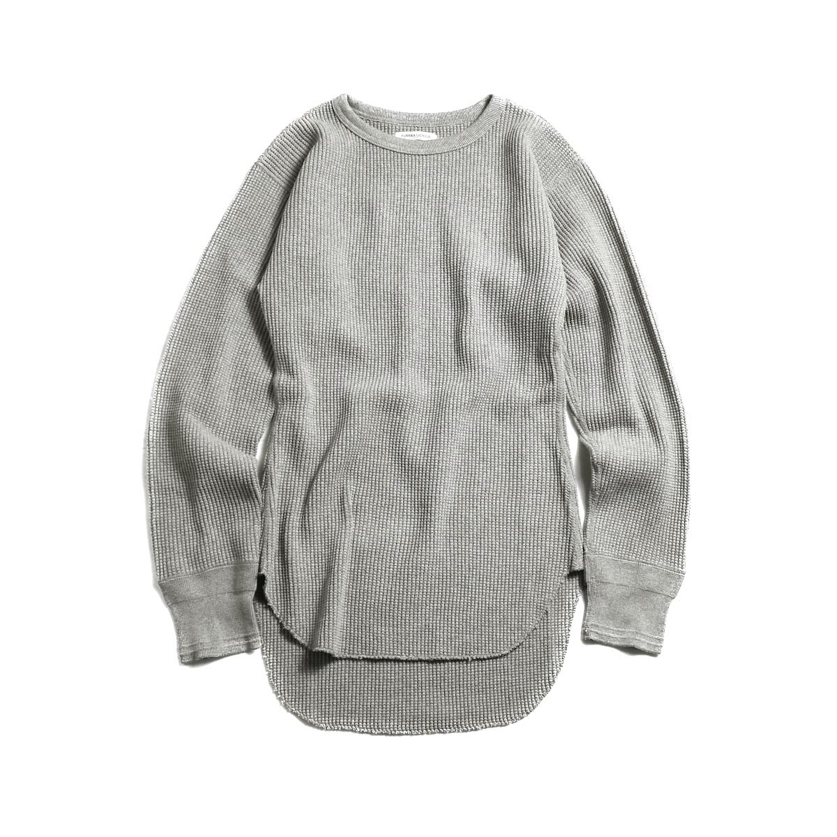 FUMIKA UCHIDA / Cotton Waffle Thermal Top -Grey