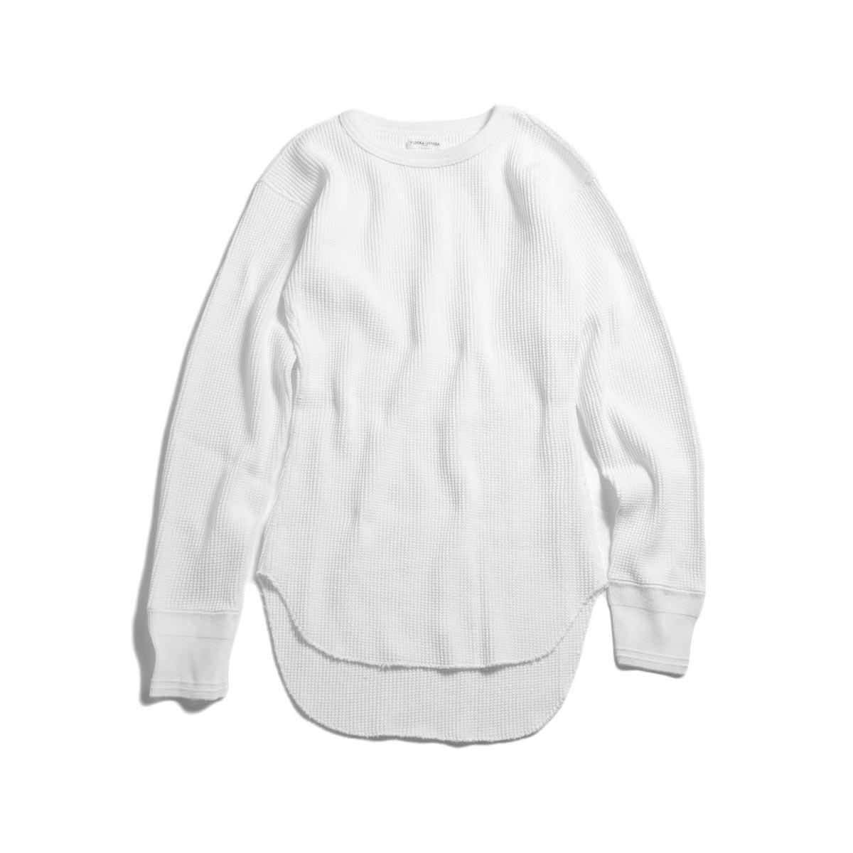 FUMIKA UCHIDA / Cotton Waffle Thermal Top -White