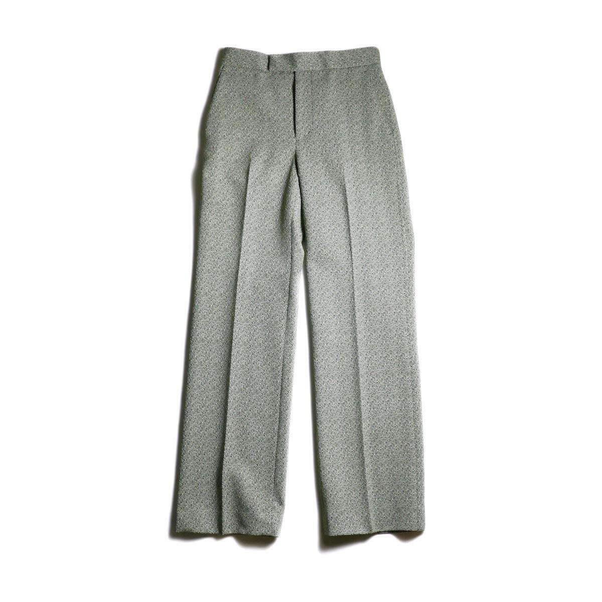 FUMIKA UCHIDA / Poli Tweed Straight Slacks -Green