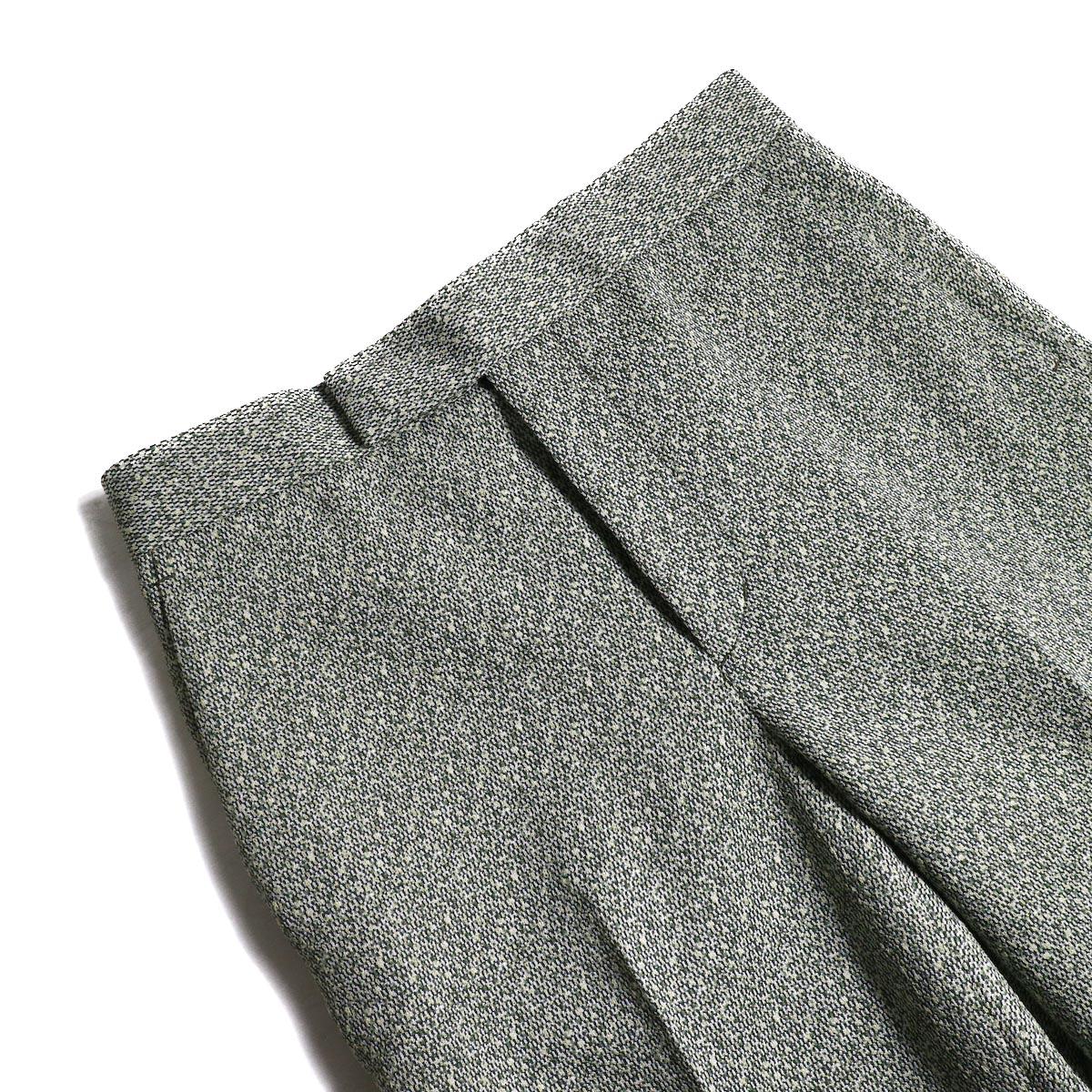 FUMIKA UCHIDA / Poli Tweed Straight Slacks -Green 襟