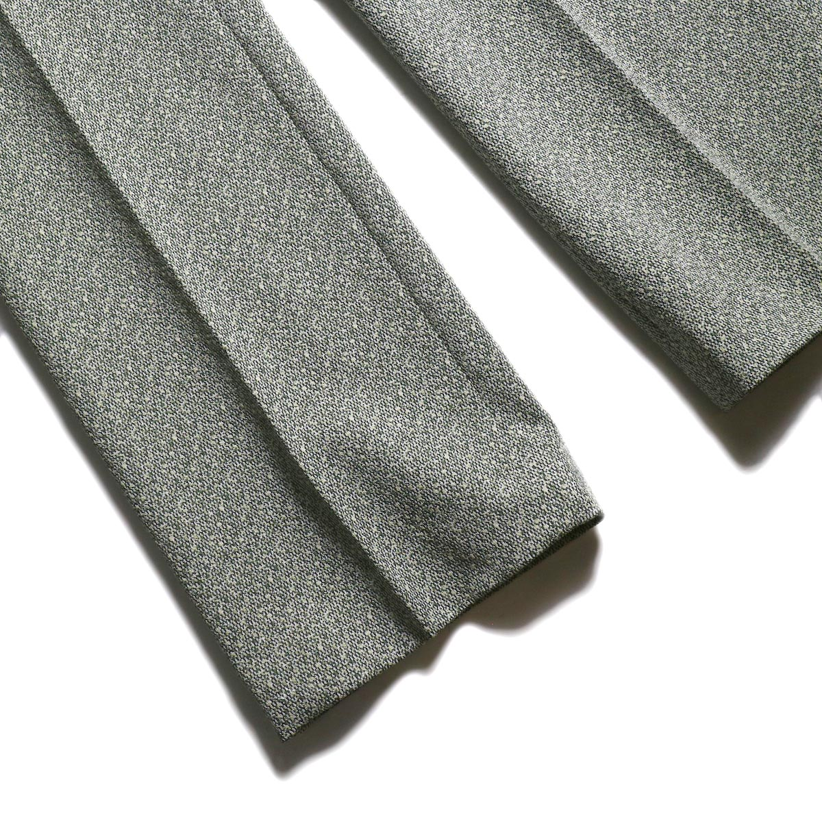 FUMIKA UCHIDA / Poli Tweed Straight Slacks -Green 裾