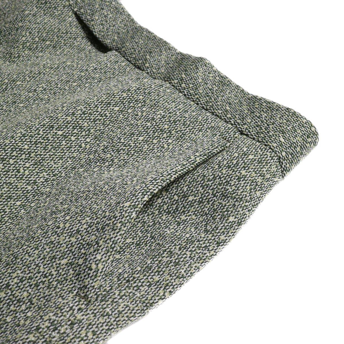 FUMIKA UCHIDA / Poli Tweed Straight Slacks -Green ポケット