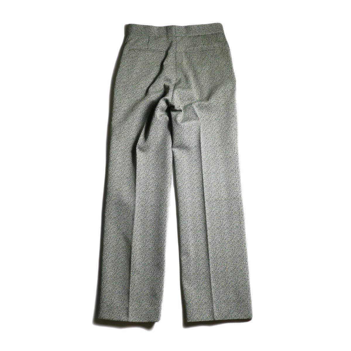 FUMIKA UCHIDA / Poli Tweed Straight Slacks -Green 背面