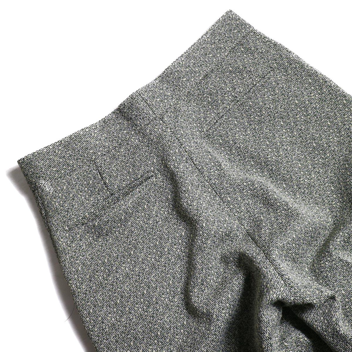 FUMIKA UCHIDA / Poli Tweed Straight Slacks -Green ヒップポケット