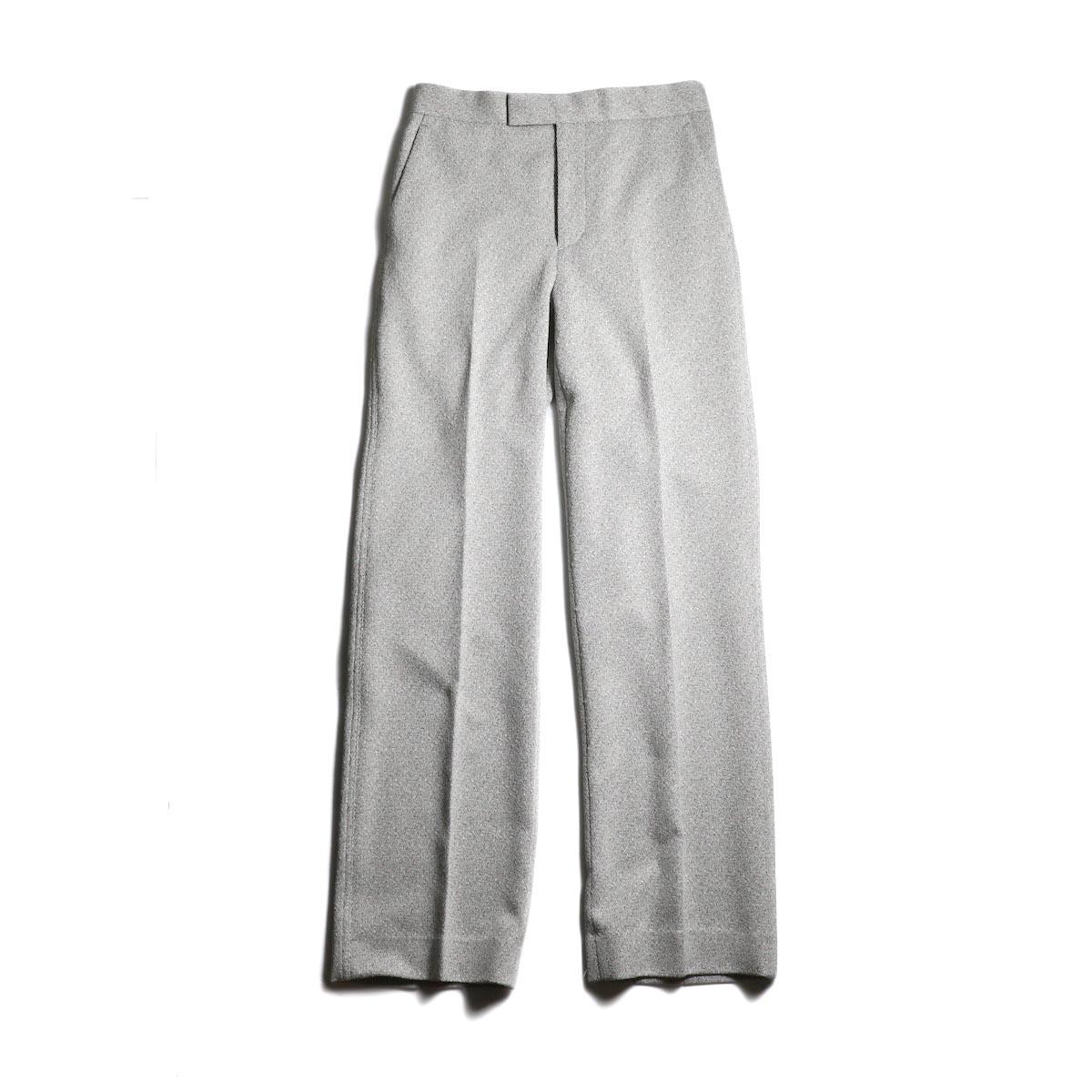 FUMIKA UCHIDA / Poli Tweed Straight Slacks -L.Gray
