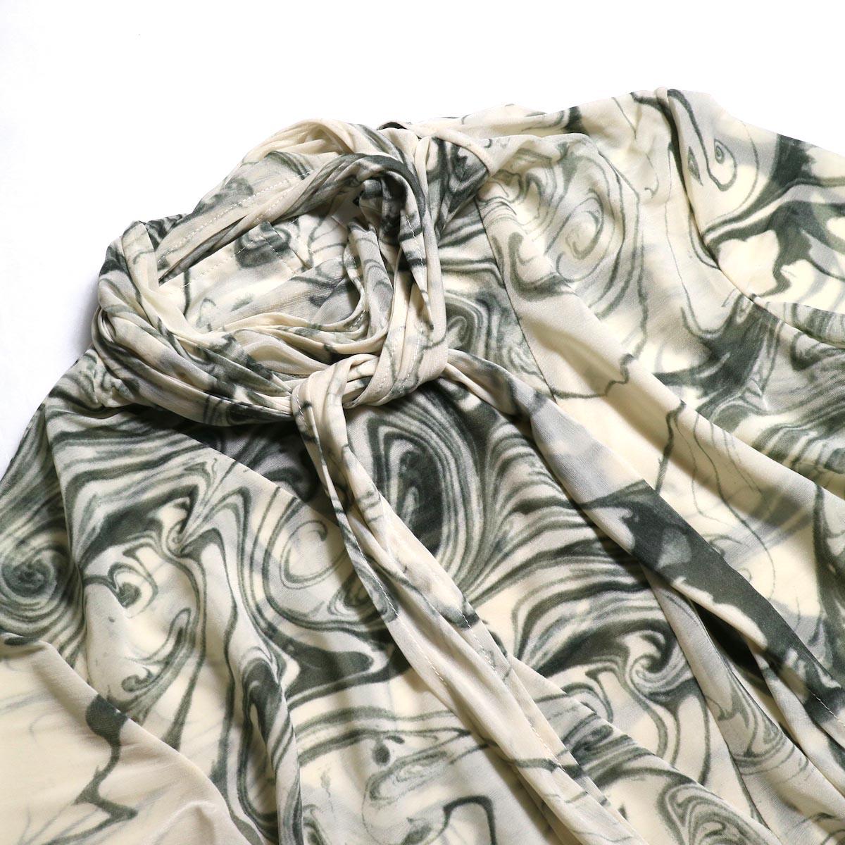 FUMIKA UCHIDA / Japan Marble Print Tie Blouse タイ