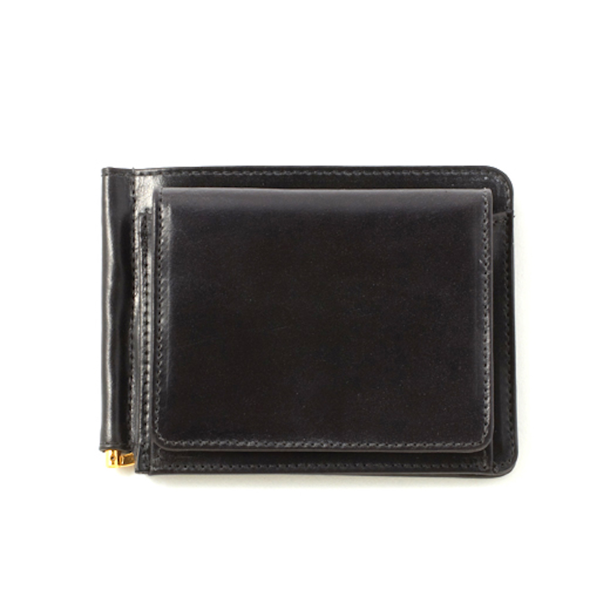 GLEN ROYAL / MONEY CLIP WITH COIN POCKET -NEW BLACK