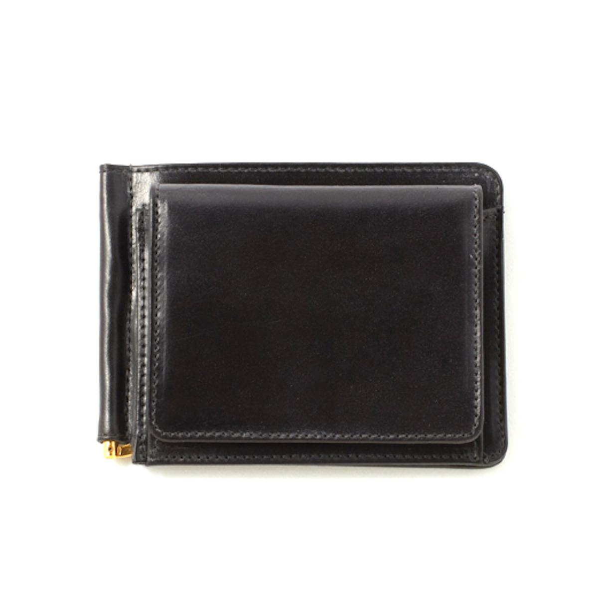 GLENROYAL / MONEY CLIP WITH COIN POCKET -NEW BLACK