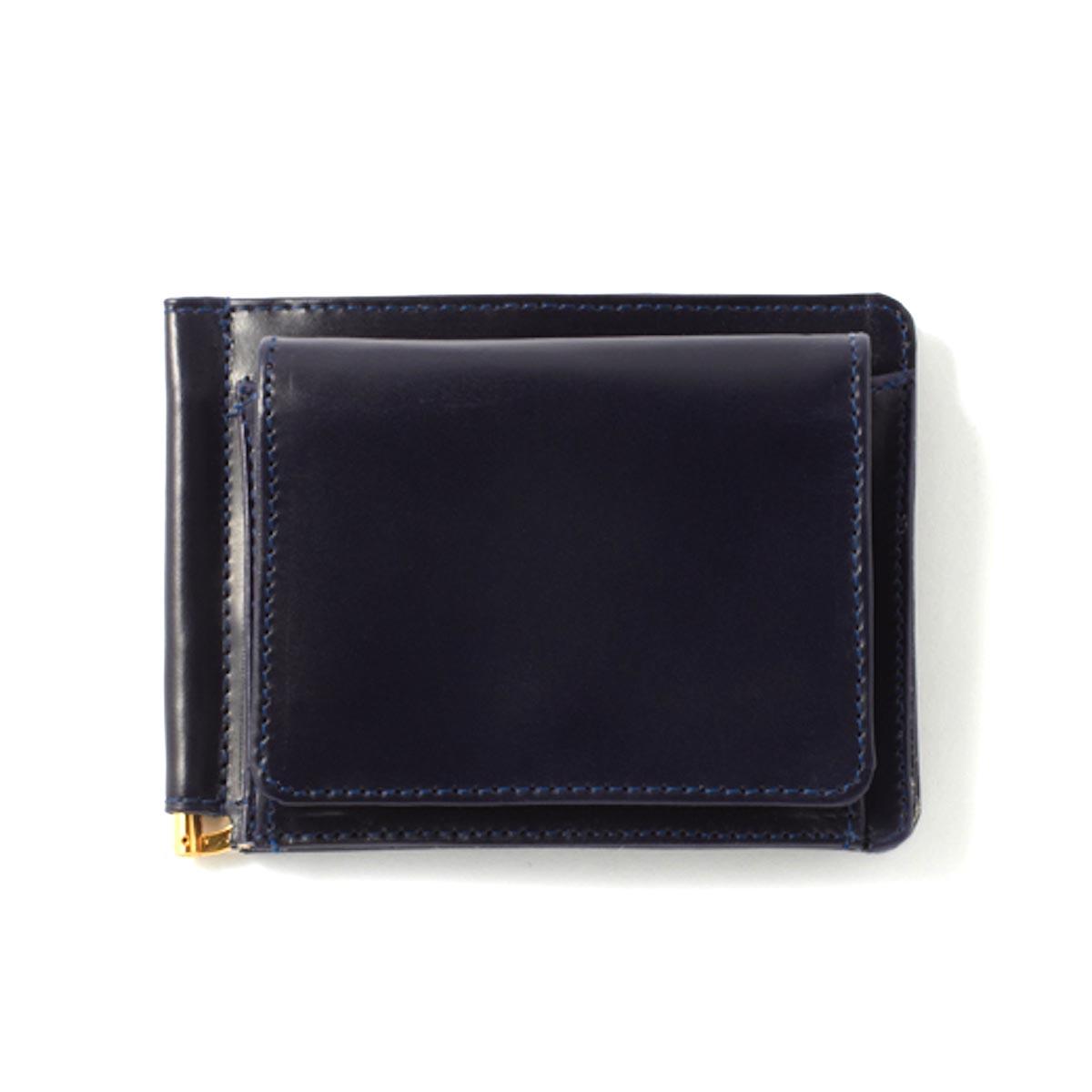 GLEN ROYAL / MONEY CLIP WITH COIN POCKET -DARK NAVY